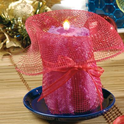 candela con rete di recupero