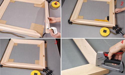 Riciclare vecchie porte per costruire cornici for Una cornice di case