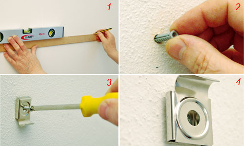 Come fissare uno specchio a parete bricoportale fai da - Supporti per specchi a parete ...