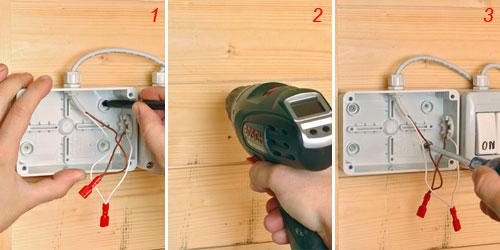 installazione cassetta per lampada fotovoltaica