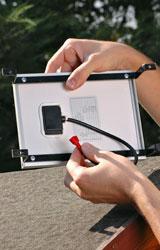 posizionamento del pannello lampada fotovoltaica