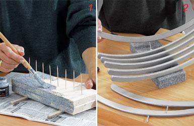 Portafrutta fai da te di design con recupero di ometti di legno bricoportale fai da te e - Portafrutta in legno ...