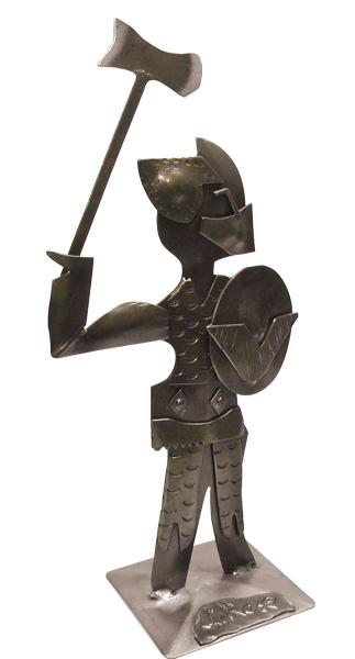 Guerriero medievale lavorato in ferro