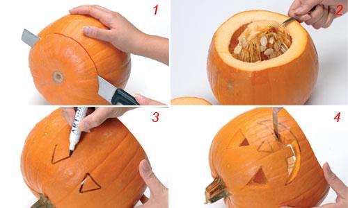 Decorare la zucca di halloween bricoportale fai da te e bricolage - Decorazioni fai da te per halloween ...
