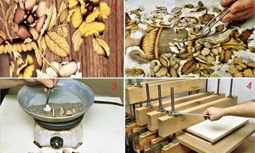 pressa legno per intarsio