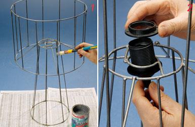 Lampadario Filo Di Ferro Fai Da Te : Lampadario filo di ferro fai da te lampade fai da te idee low