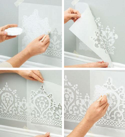 Come decorare con la tecnica degli stencil - Bricoportale, il Portale ...