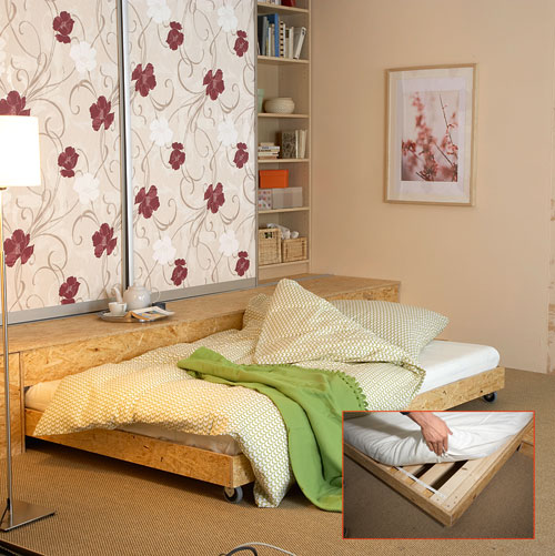 Costruire un piccolo soppalco il letto estraibile