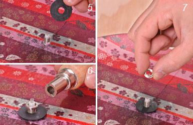 Applicazione del movimento meccanico all'orologio in stoffa e vetro