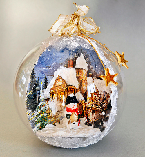 Come realizzare palline decorate di natale bricoportale - Decorazioni decoupage ...
