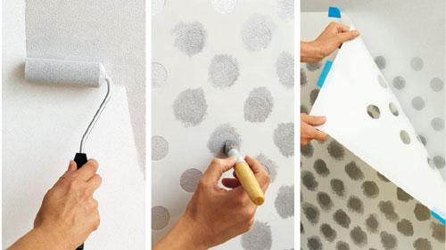 Come decorare con la tecnica degli stencil bricoportale - Decorare un muro ...
