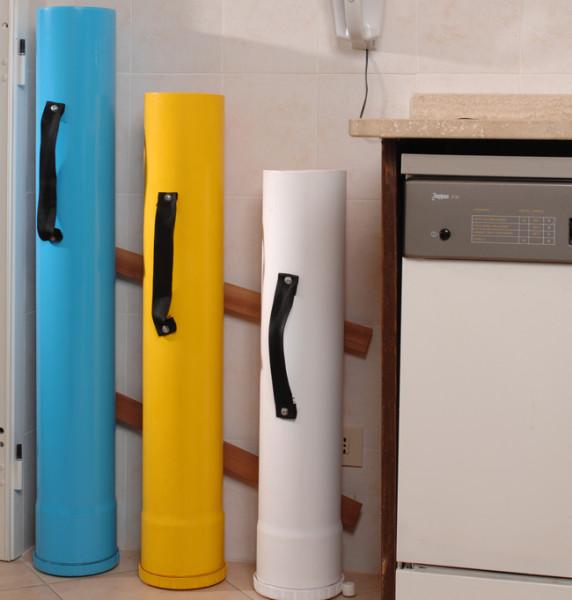 Costruire contenitori raccolta differenziata fai da te - Contenitori da cucina ...