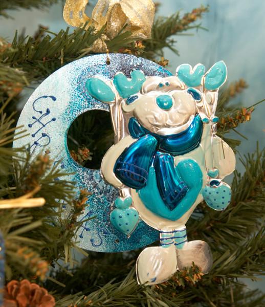 decorazione natalizia a sbalzo