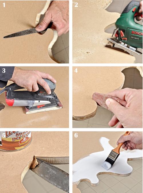 taglio e finitura pannello