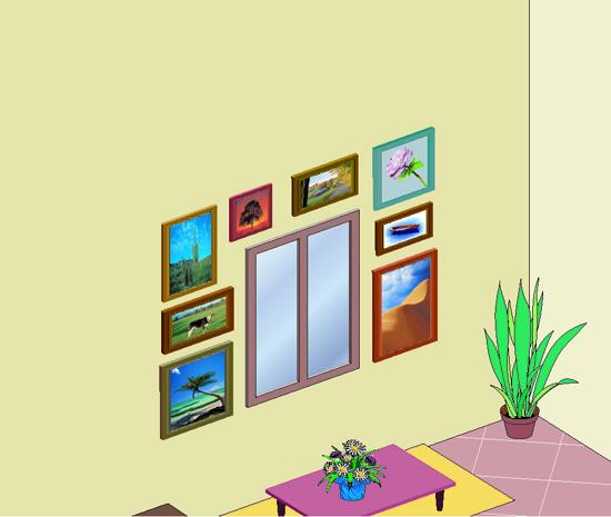 Appendere quadri tutti i segreti per allinearli - Quadri con finestre ...
