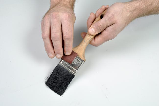 pulizia fascetta pennello