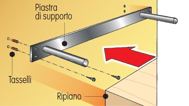 Supporti Per Mensole A Scomparsa.Come Montare Una Mensola Bricoportale Fai Da Te E Bricolage