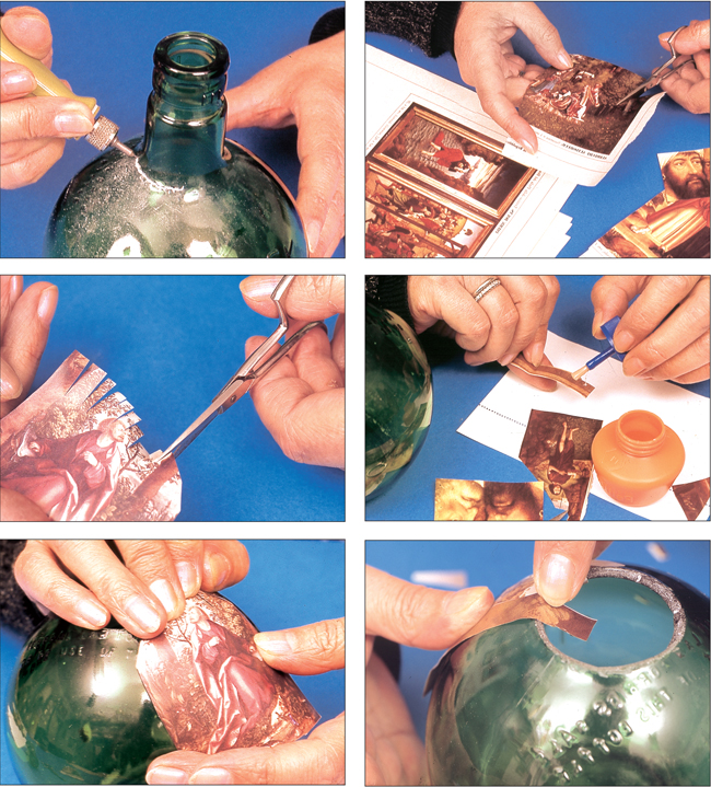 decoupage su vetro, decoupage, découpage, decoupage su legno, decoupage natale,  decoupage come si fa