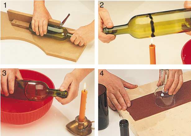 creare riciclando vetro
