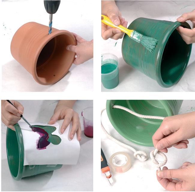 Vasi decorati bricoportale fai da te e bricolage for Vasi decorativi per esterno