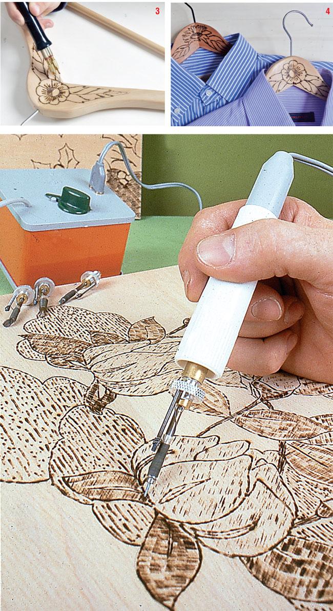 pirografia, pirografo, pirografare, decorare il legno, come utilizzare il pirografo