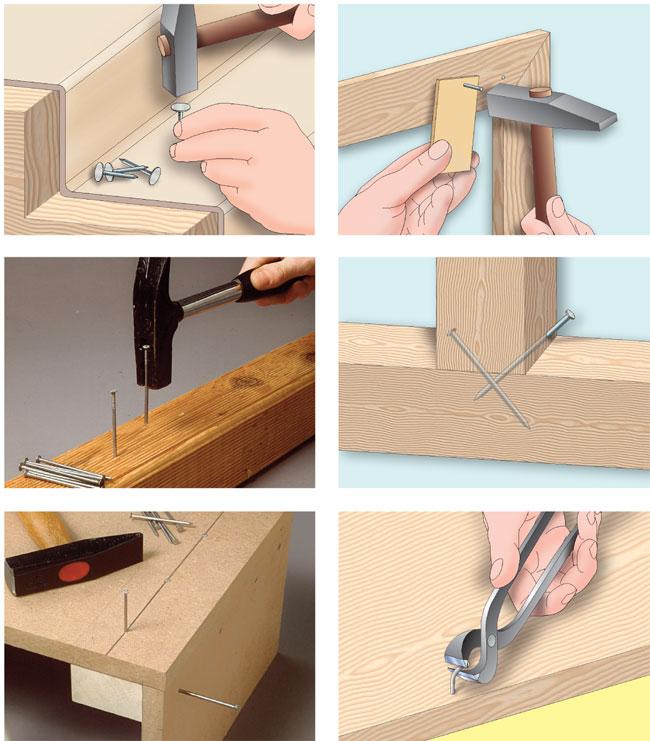 come utilizzare i chiodi per legno