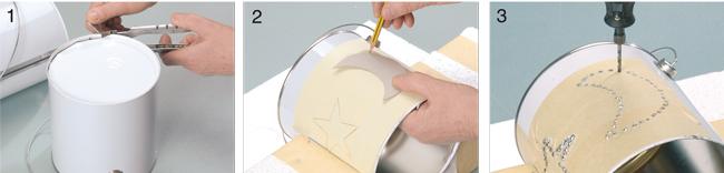 Riciclo creativo lattine fori