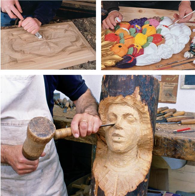 intagliare il legno con le sgorbie