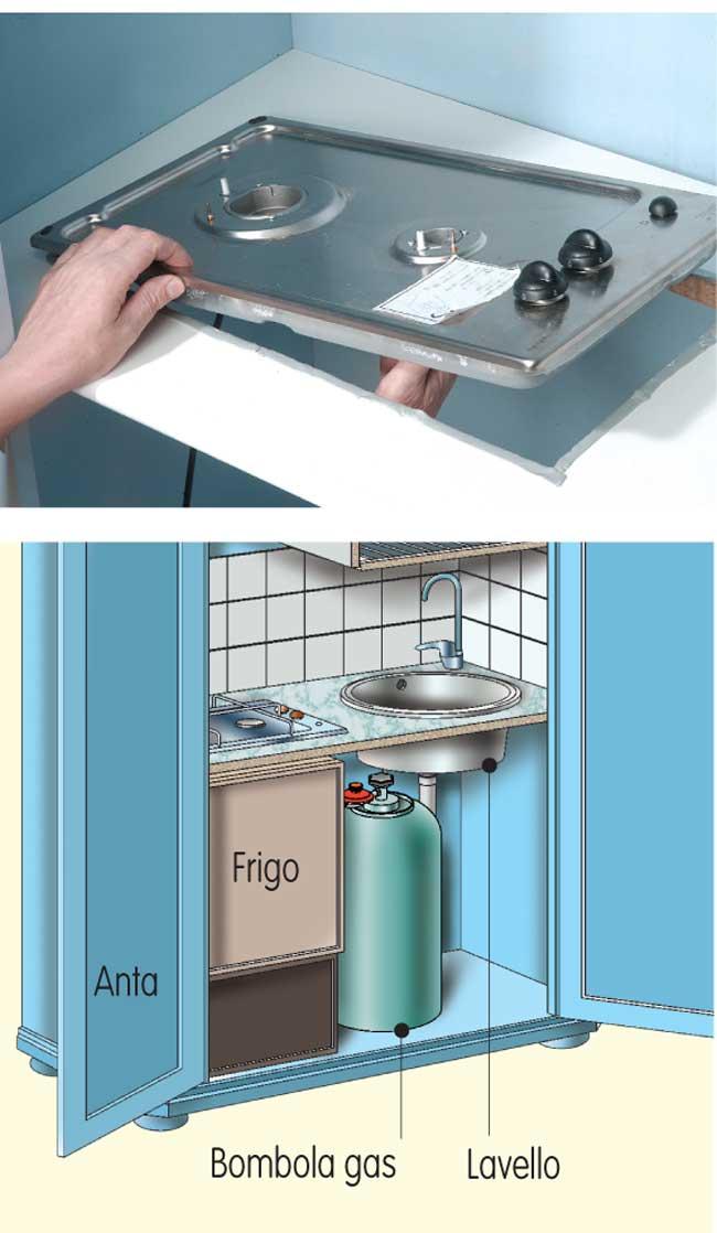 Cucina nascosta in un armadio costruzione fai da te dettagliata - Piano cucina fai da te ...