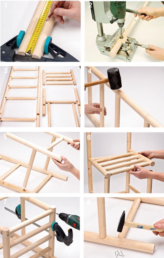 Portaoggetti fai da te bricoportale fai da te e bricolage - Parete in legno fai da te ...
