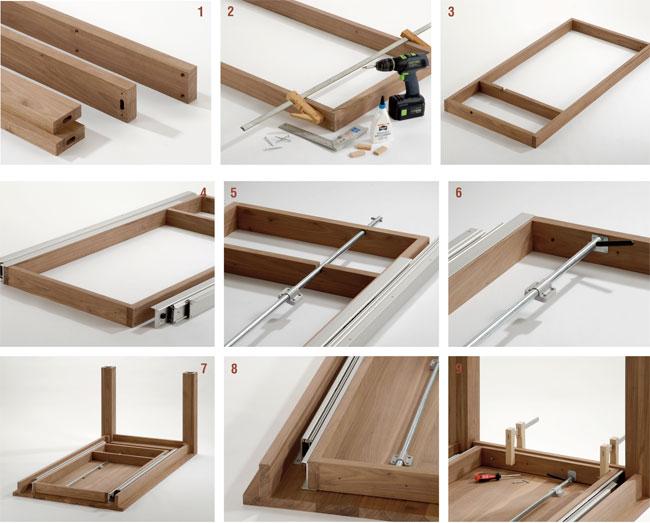 Tavolo allungabile fai da te, costruire un tavolo, tavolo allungabile