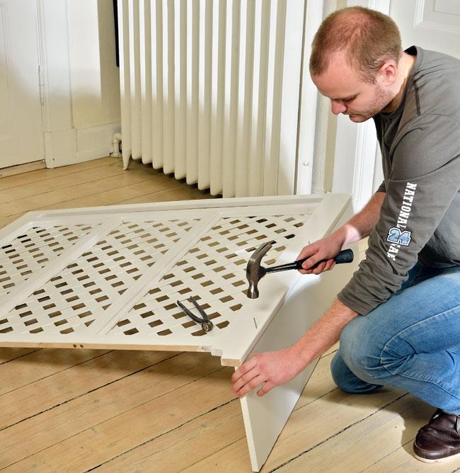 realizzazione grigliato in legno