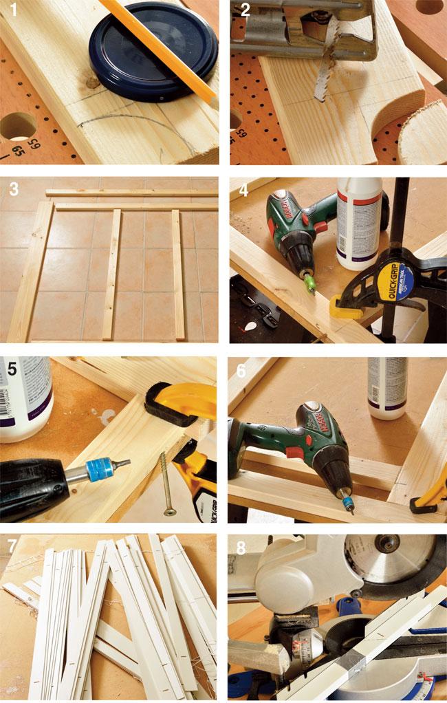 telaio in legno per copriradiatore
