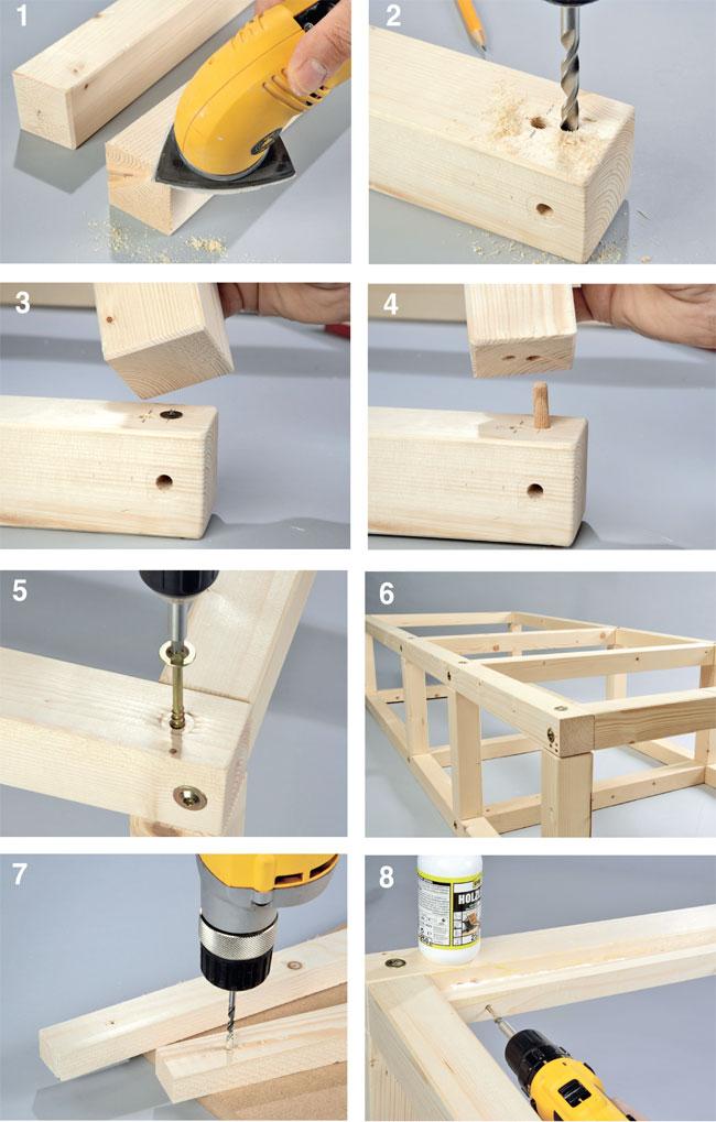 Costruire un letto contenitore fai da te design casa - Costruire mobili in legno fai da te ...