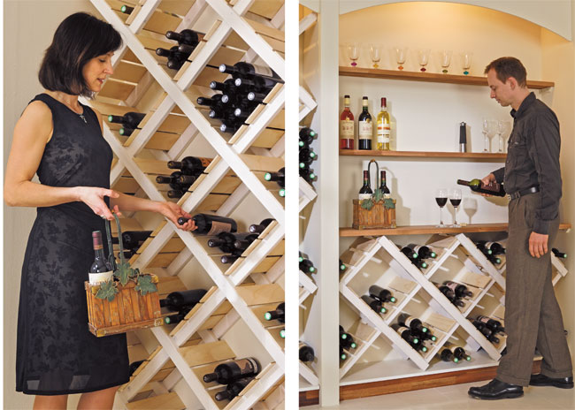 Costruire un portabottiglie da parete bricoportale fai da te e bricolage - Portabottiglie di vino in legno ...