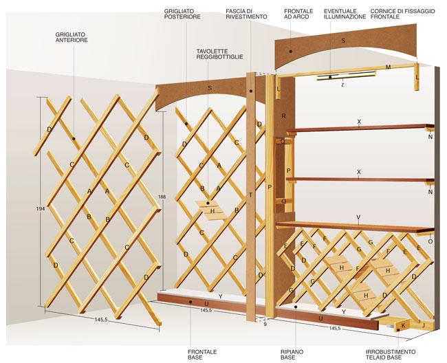 Estremamente Costruire un portabottiglie da parete - Bricoportale: Fai da te e  WN42