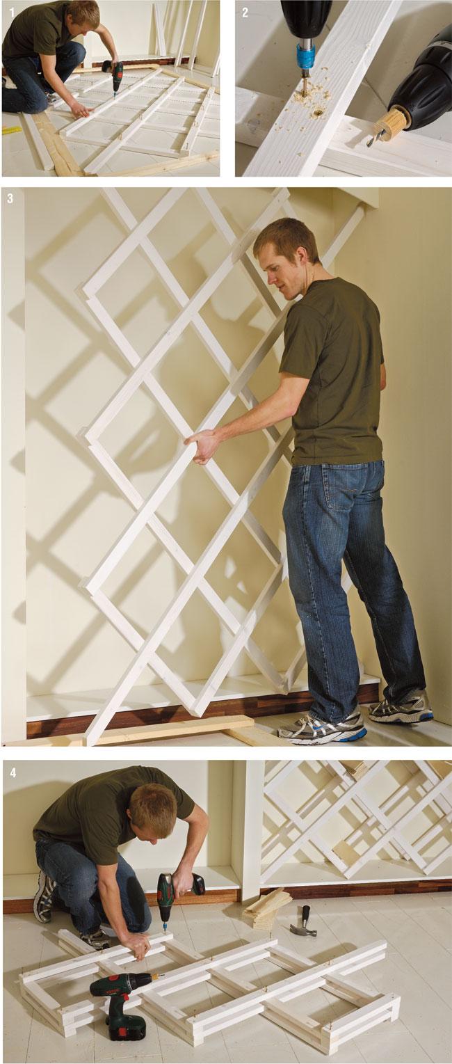 Costruire un portabottiglie da parete bricoportale fai - Pannelli decorativi fai da te ...