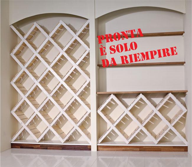 Costruire un portabottiglie da parete bricoportale fai - Portabottiglie da parete ikea ...