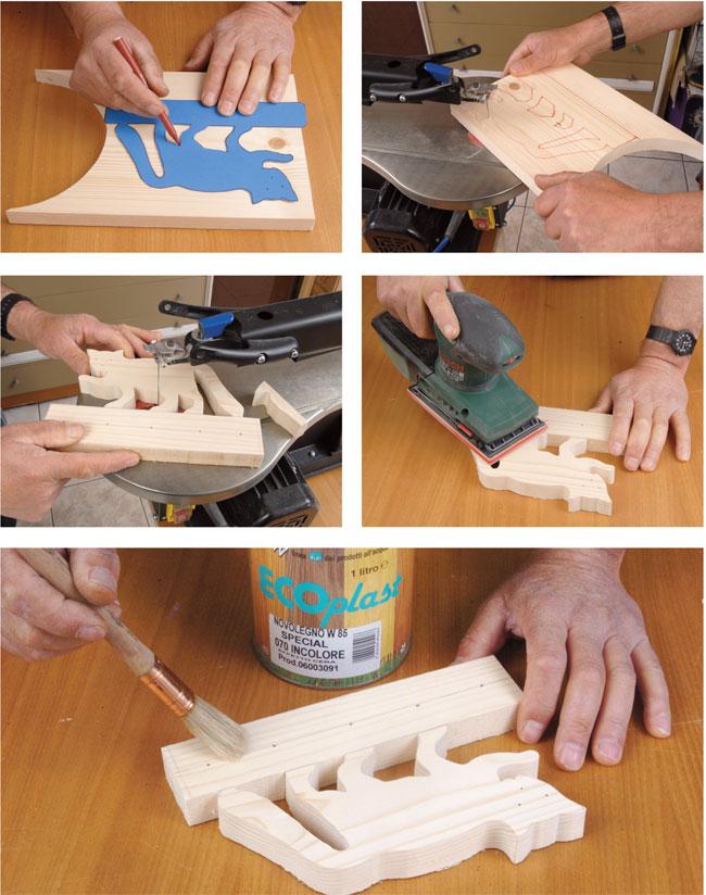 Portachiavi fai da te bricoportale fai da te e bricolage for Oggetti in legno fai da te