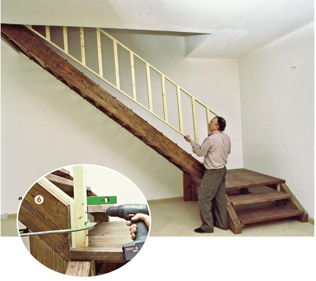 Scala in legno fai da te bricoportale fai da te e bricolage for Piani di casa fai da te