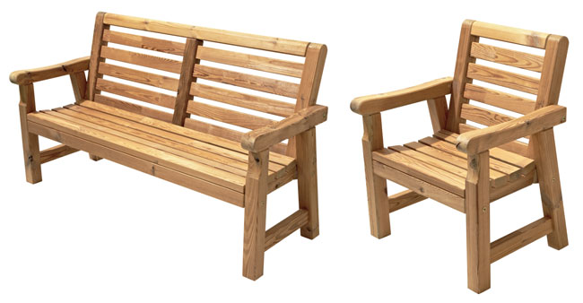 Sedie E Panche Da Giardino.Arredo Giardino Fai Da Te Come Costruire Una Panca E Sedia In Legno