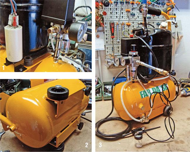 compressore fai da te, come costruire un compressore, compressore