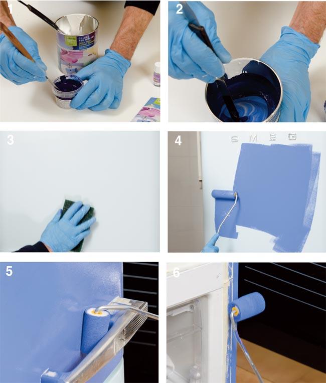 Rinnovare il frigorifero, rinnovare il frigo, come rinnovare il frigo, colorare il frigorifero, sottosopra, frigorifero smeg
