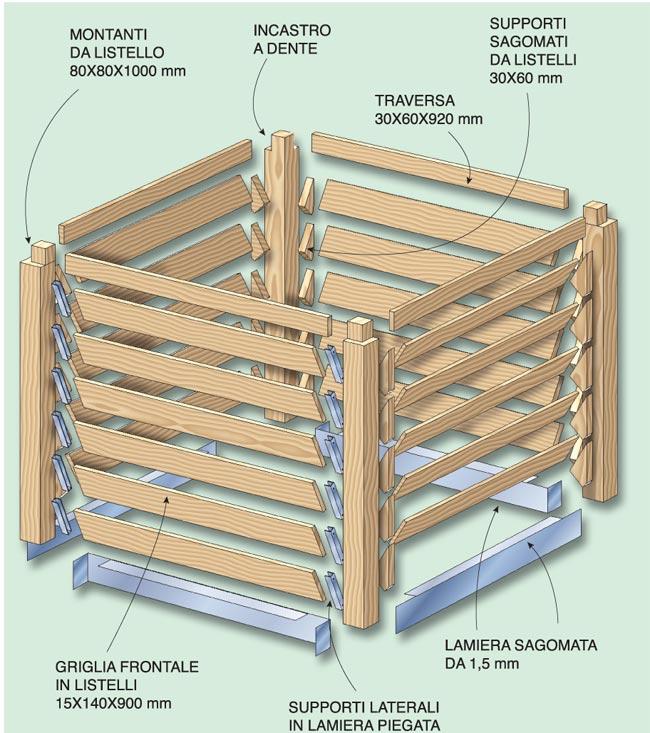 compostiera in legno