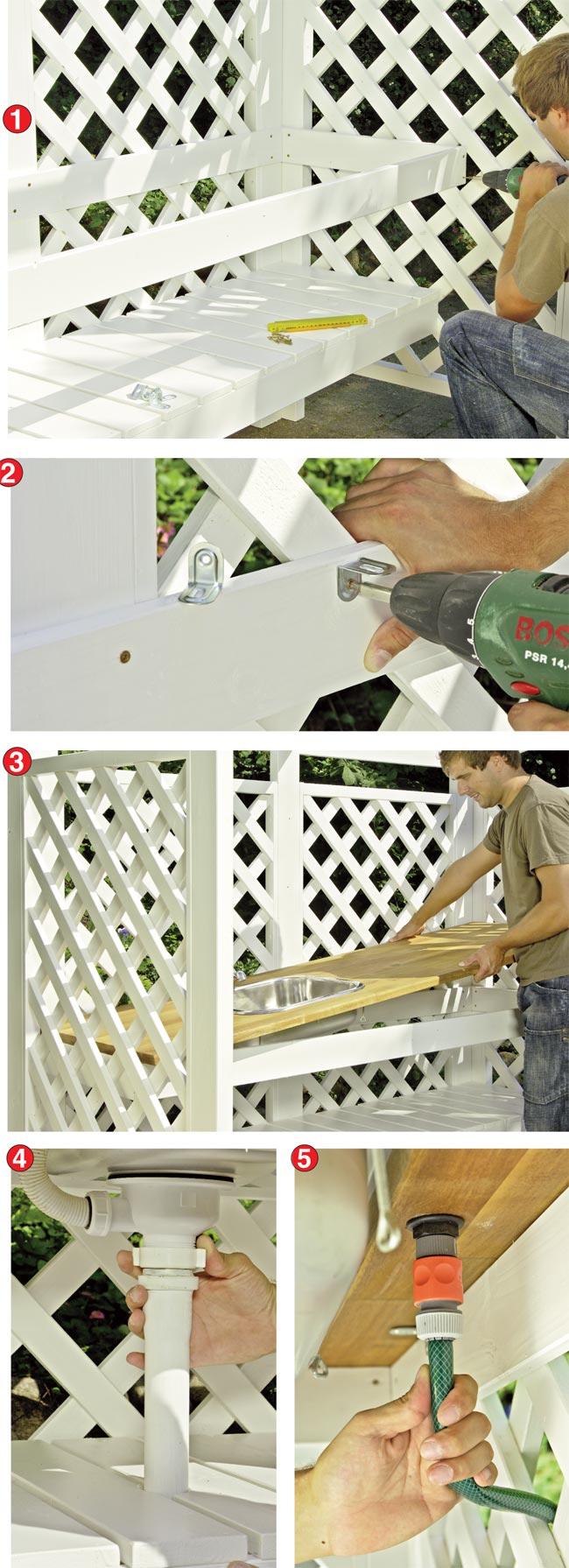 Costruire una cucina da esterno in legno d\'abete - Bricoportale: Fai ...
