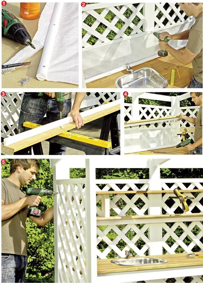 Costruire una cucina da esterno in legno d 39 abete bricoportale fai da te e bricolage - Piano cucina fai da te ...