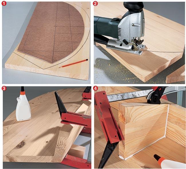 taglio dei pezzi di legno