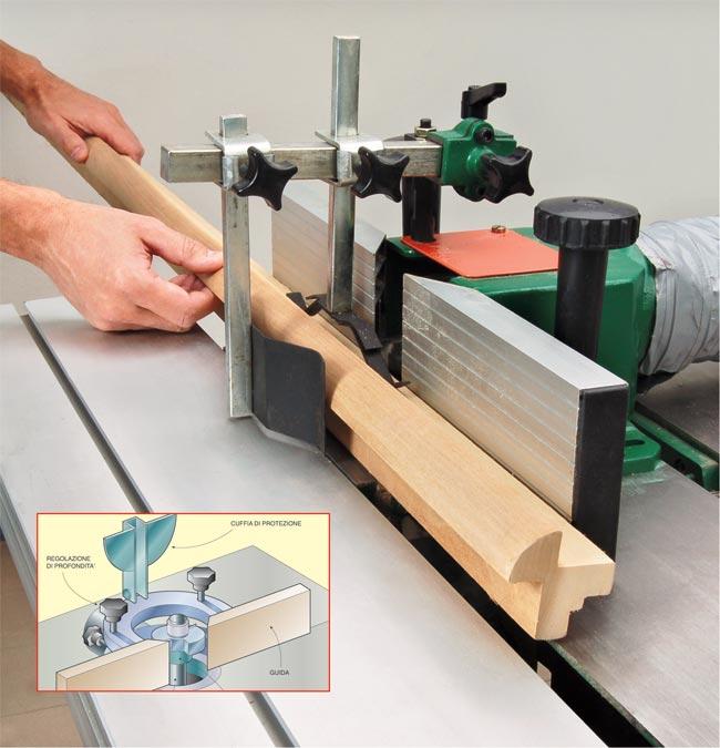Fresatrice legno profilati alluminio for Portaritratti legno