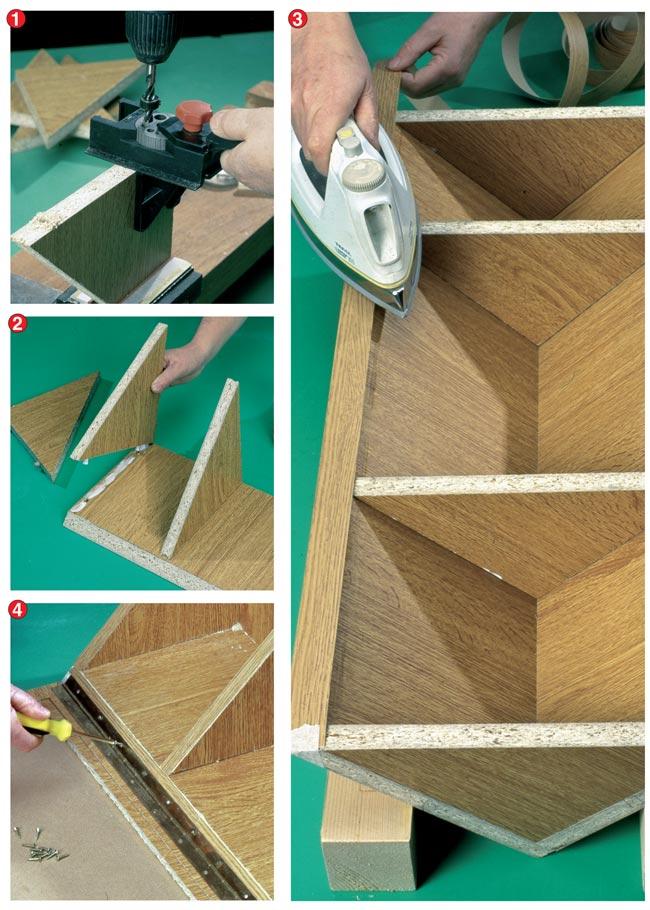 Come costruire un mobiletto angolare bricoportale fai - Costruire mobili in cartone ...