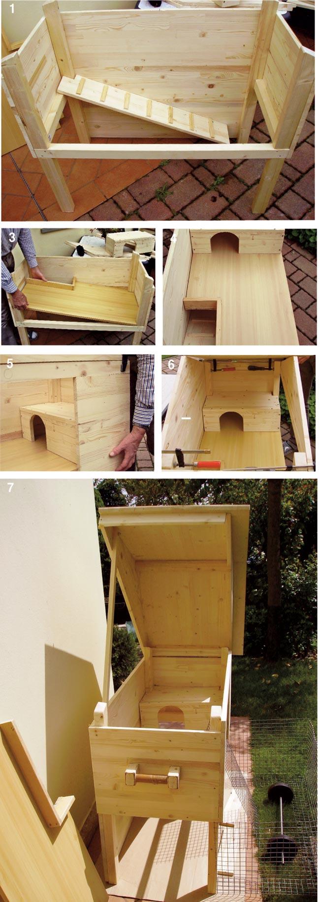 conigliera in legno